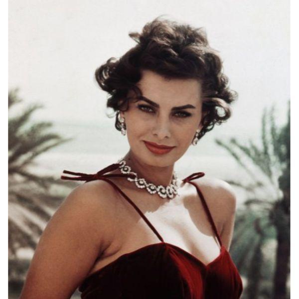 Sophia Loren Short Curly Hair