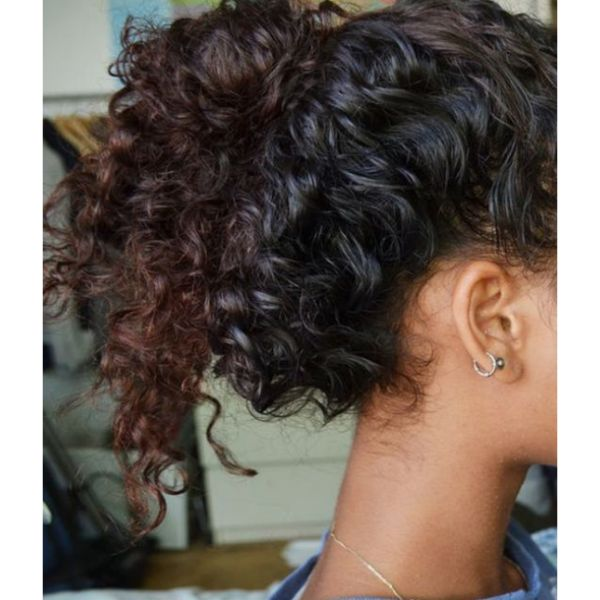 Ponytail For Short & Curly Hair