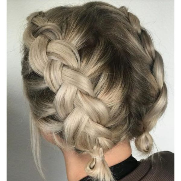 Dutch Braids For Short & Curly Hair