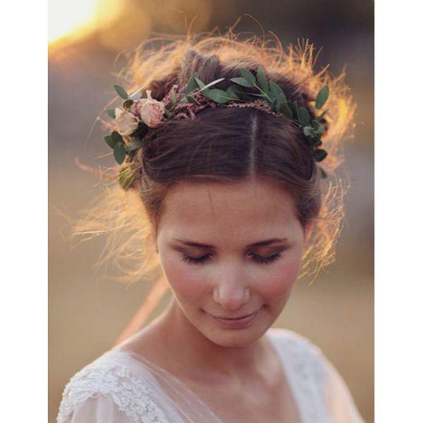 Flower Crown Messy Updo