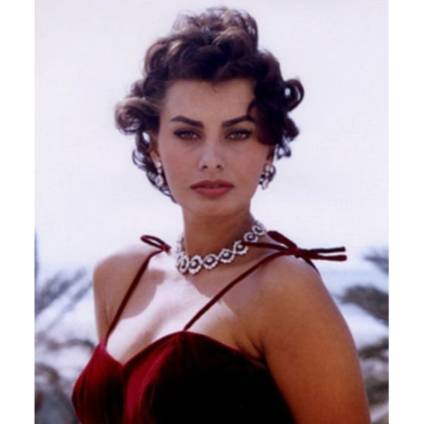 Sophia Loren Short Hair