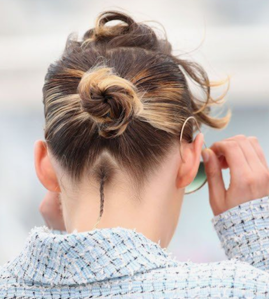 Edgy Bun And Braid Combo Short Hair