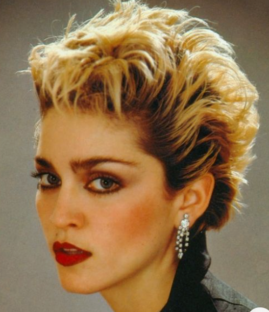 Madonna Edgy Short Hair