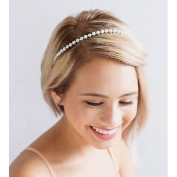 Delicate Headband Short Hair