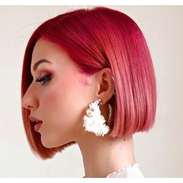 Asymmetrical Red Bob