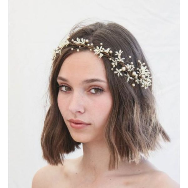 Delicate Crown Short Hair