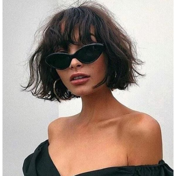 Messy Bob & Bangs For Thin Hair