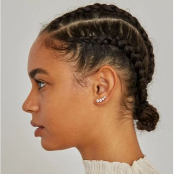 Tiny & Braided Space Buns For Thin Hair