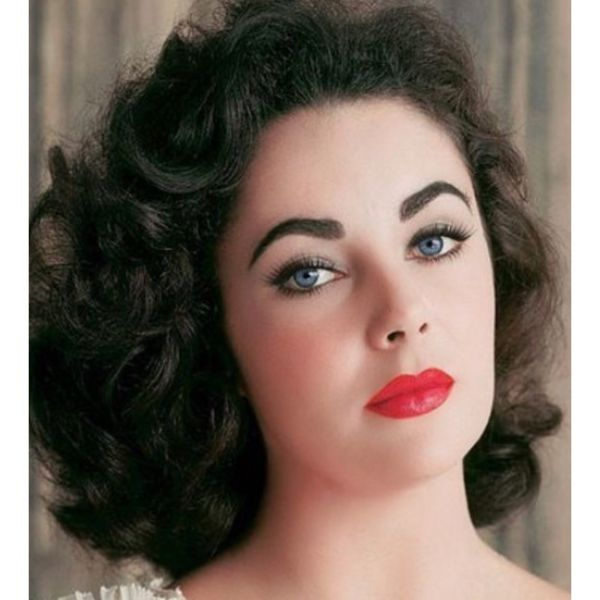 Liz Taylor Inspired Curly Hair