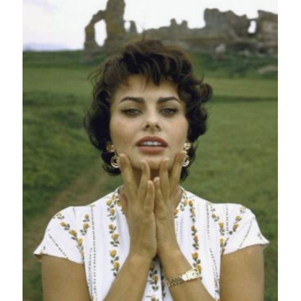 Sophia Loren Inspired Curly Hair