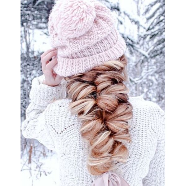 Whimsical Winter Braid For Thick Hair
