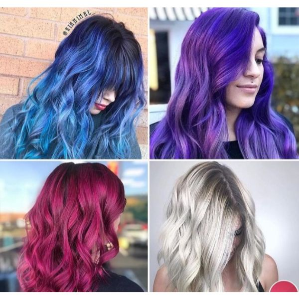 Crazy-Colored Curls: Four Looks