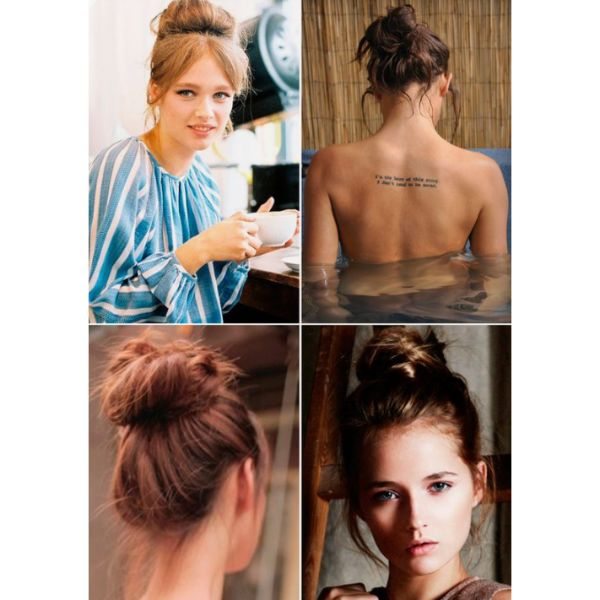 Messy Bun, Four Looks