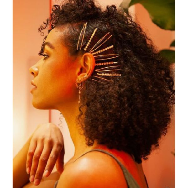 Curly Hair & Statement Hair Clips