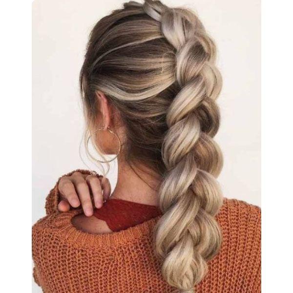 Dutch Braid For Thick Hair