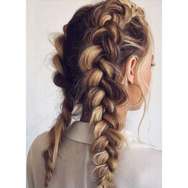 French Or Dutch Braids For Thick Hair