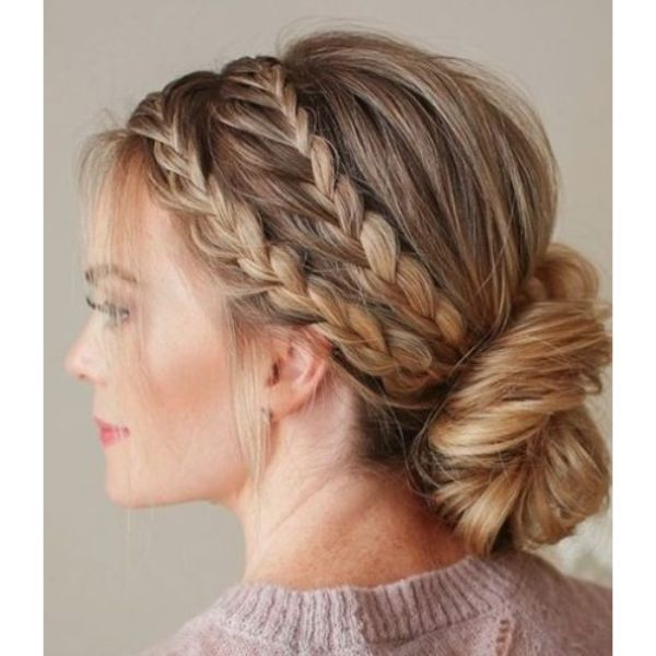 Double Braided Low Updo