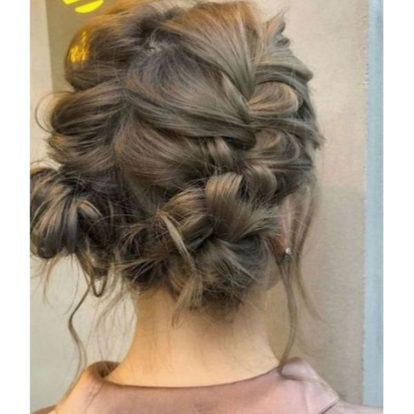 Braided Low Space Buns