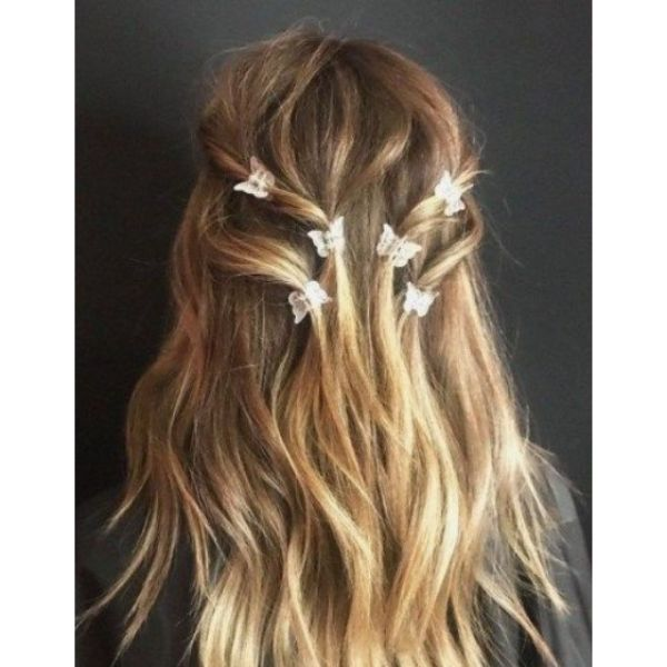 Butterfly Embellished Medium, Thick Hair