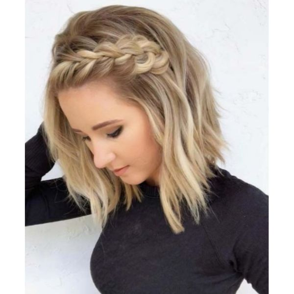 Braided Half Updo For Thin Hair