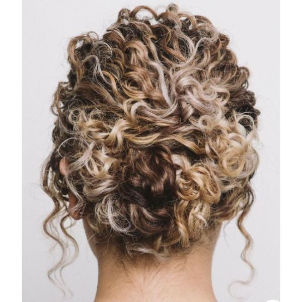 Quick & Easy Low Bun For Curly Hair