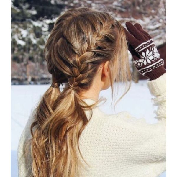 DIY Christmas Braided Pigtails