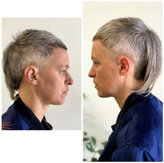 mullet idea for short haircuts for older women
