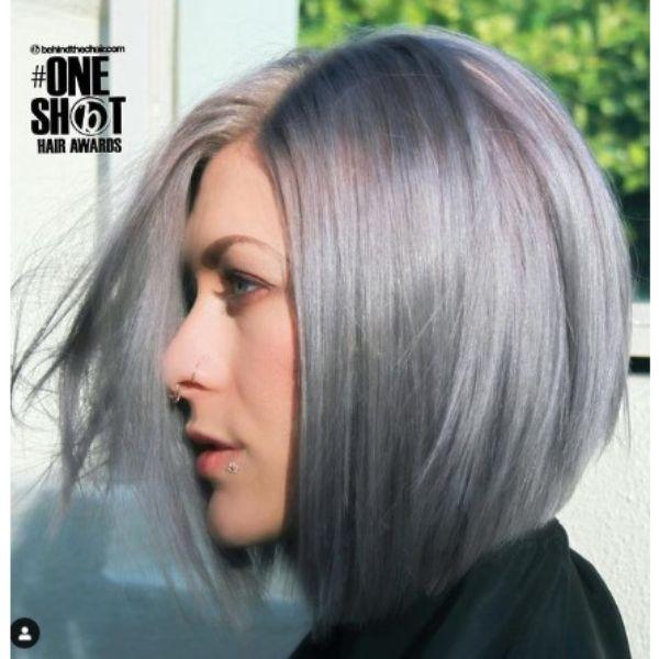Ashy Blonde Bob Haircut