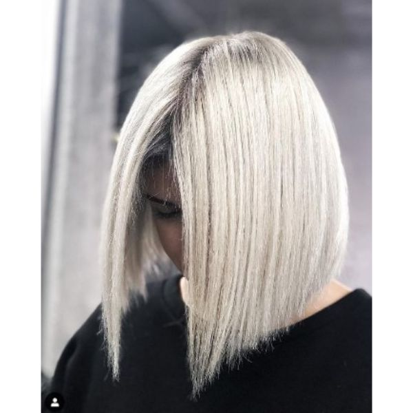 Ice Blonde Bob Haircut