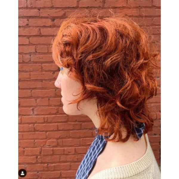 Ginger Red Curly Shag